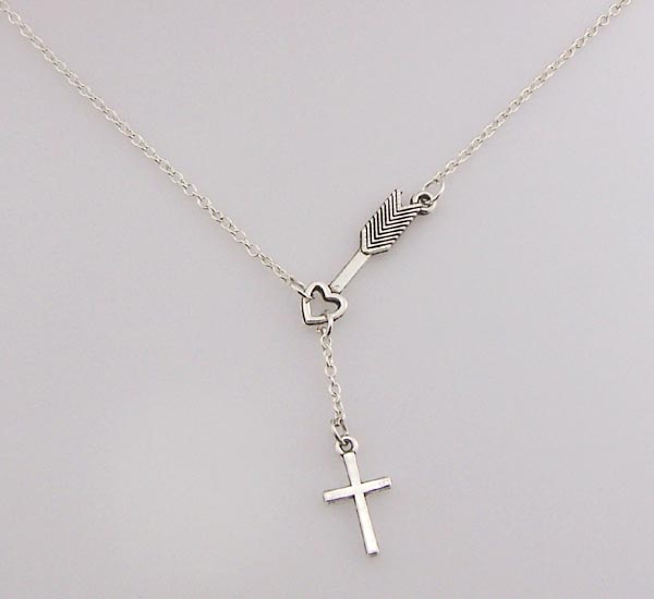 Silver cross necklace small arrow necklace sideways cross necklace silver cross necklace small arrow necklace sideways cross necklace little cross arrow jewelry gifts for sister bestfriend birthday friendship graduation mozeypictures Images